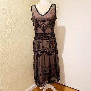 Newport News Black Lace Pink Nightie Dress